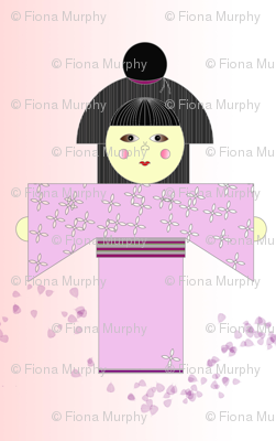 Japanese Girl in Pink
