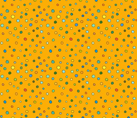 small dots in orange fabric by aprilmariemai on Spoonflower - custom fabric