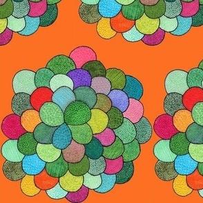 petal cluster in orange