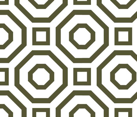 Geometry Dark Olive  fabric by alicia_vance on Spoonflower - custom fabric
