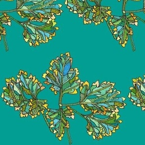 parsley in teal