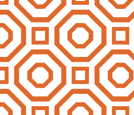 Geometry Orange fabric by alicia_vance on Spoonflower - custom fabric