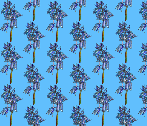 bluebell in dark blue fabric by aprilmariemai on Spoonflower - custom fabric