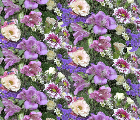 Flowers for my birthday - 75th fabric by koalalady on Spoonflower - custom fabric