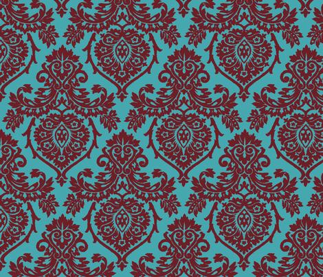 Prancer Ornamental Damask Big fabric by kamiekazee on Spoonflower - custom fabric