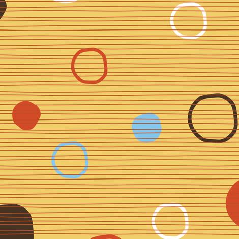 Blast dots on yellow fabric by kamiekazee on Spoonflower - custom fabric