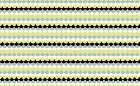 Waves blue green fabric by feinstarbeiten on Spoonflower - custom fabric