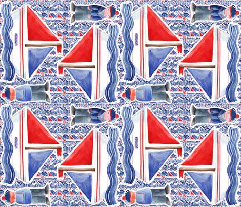 kit doudou bateau v2 fabric by nadja_petremand on Spoonflower - custom fabric