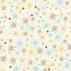 Blast pattern on white