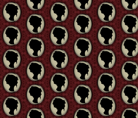 Bearded Lady  fabric by kahoxworth on Spoonflower - custom fabric
