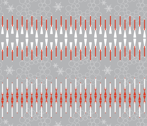 Holiday Candles fabric by newmomdesigns on Spoonflower - custom fabric