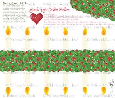 Santa Lucia crown pattern