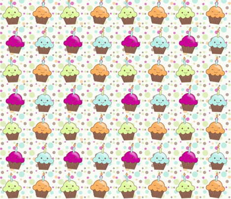 cupcakes fabric by mytinystar on Spoonflower - custom fabric