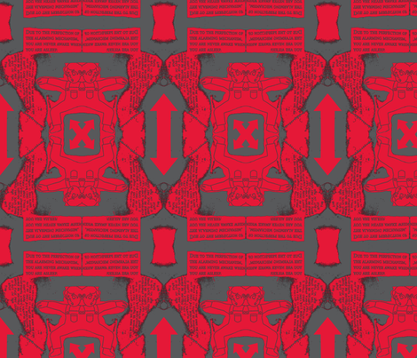 red twins fabric by snuffbox on Spoonflower - custom fabric