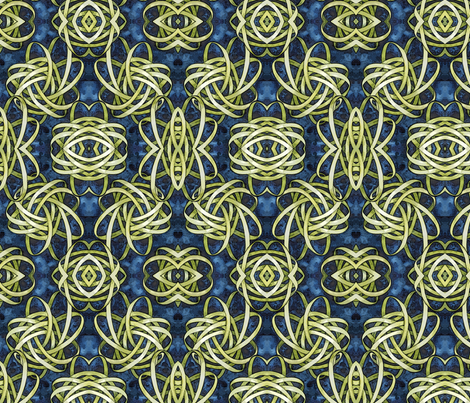Knot Number Four Mirror fabric by helenklebesadel on Spoonflower - custom fabric
