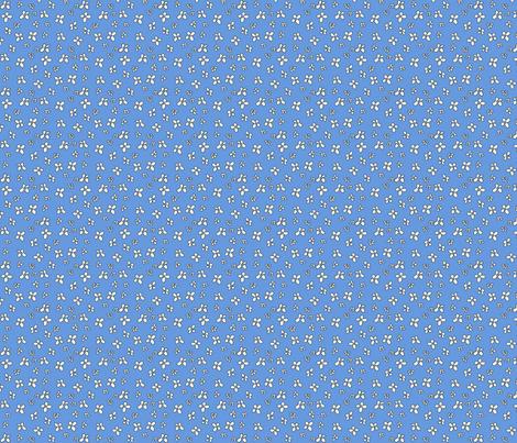Flowers in blue fabric by catru on Spoonflower - custom fabric