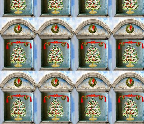 A Christmas Tree Shadow Box fabric by karenharveycox on Spoonflower - custom fabric
