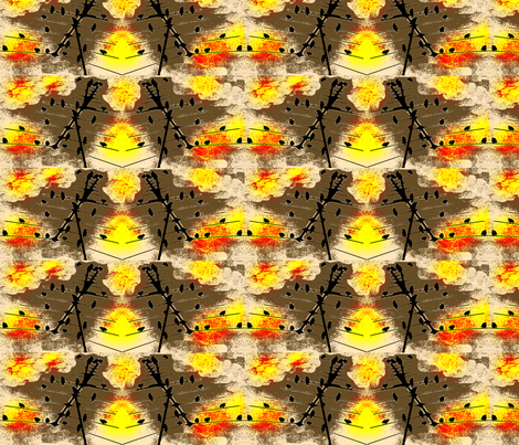 Sunset Birds fabric by robin_rice on Spoonflower - custom fabric