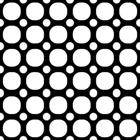 Black Grid fabric by poetryqn on Spoonflower - custom fabric