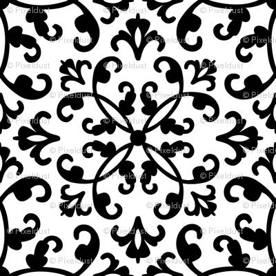Contessa - black on white