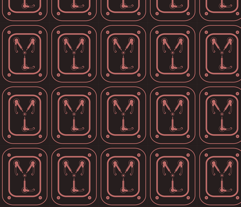 Flux Capacitor fabric by kahoxworth on Spoonflower - custom fabric