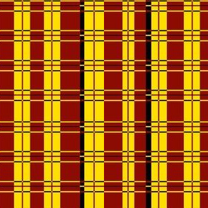Plaid: Yellow, red and black