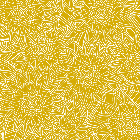 New York yellow fleur fabric by scrummy on Spoonflower - custom fabric