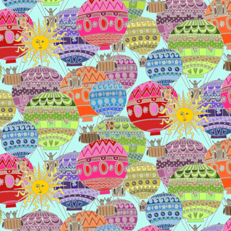 tiny candy sky fabric by scrummy on Spoonflower - custom fabric