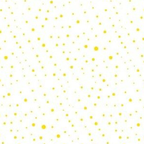 polka dots yellow on white