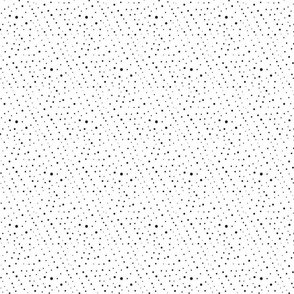 Polka Dots Charcoal on White