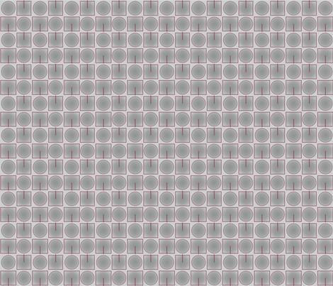 Grey Squares Circles © 2010 Gingezel™ fabric by gingezel on Spoonflower - custom fabric
