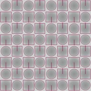 Grey Squares Circles © 2010 Gingezel™