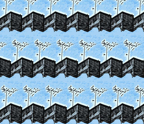 City Birds fabric by robin_rice on Spoonflower - custom fabric
