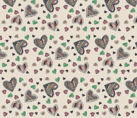 book page watercolor valentines  fabric by heathermann on Spoonflower - custom fabric