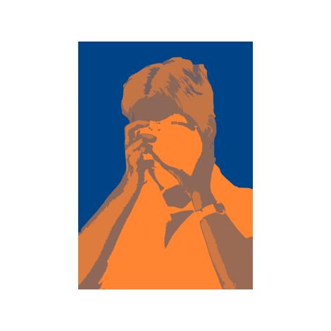 Linda Warhol 4 fabric by blue_jacaranda on Spoonflower - custom fabric
