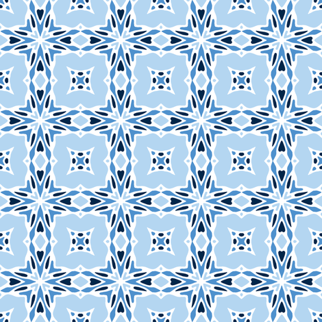 Love to Celebrate - winter blues fabric by inscribed_here on Spoonflower - custom fabric