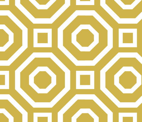 Geometry Gold fabric by alicia_vance on Spoonflower - custom fabric