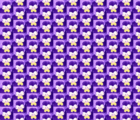 purple and yellow_johnie-jump-ups_6_28_09_006-ch-ch fabric by khowardquilts on Spoonflower - custom fabric