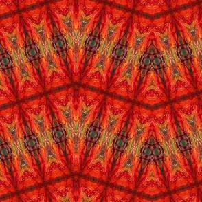 "SUNSET ZIPZAG-LG SCALE 48x48"" by SUE DUDA"