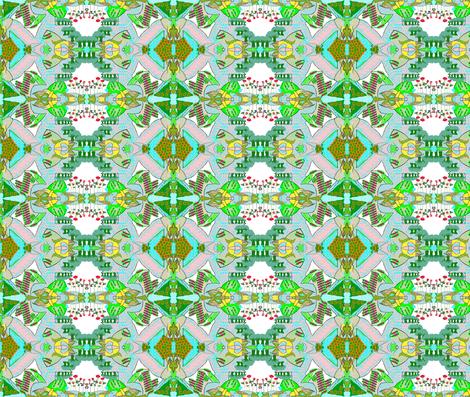 My Fantasy Garden fabric by robin_rice on Spoonflower - custom fabric