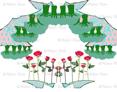 Asian Rose Garden