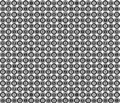 Typewriter fabric by poetryqn on Spoonflower - custom fabric