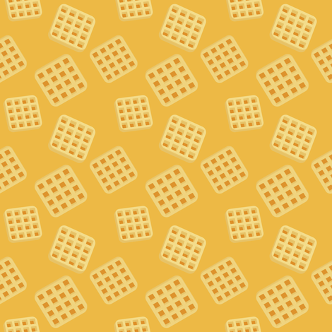 (Medium) Breakfast Waffles fabric by greencouchstudio on Spoonflower - custom fabric