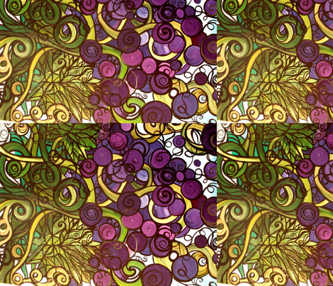 Wild Grapes fabric by heatherpeterman on Spoonflower - custom fabric