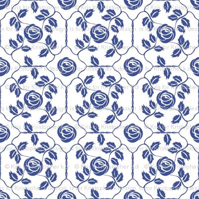 Delft Rose - Blue