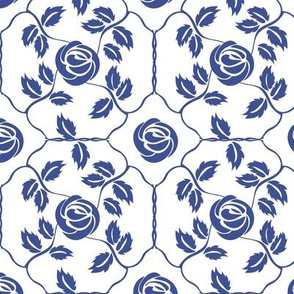 Delft Rose - Blue
