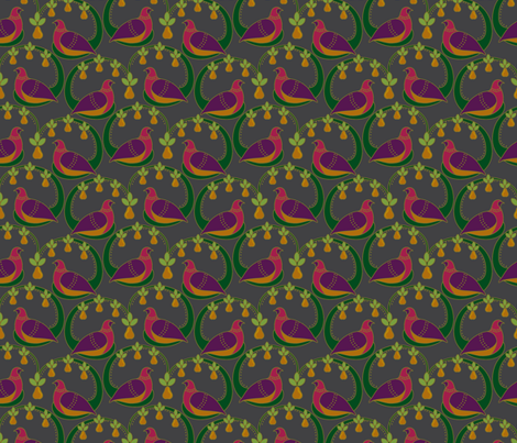 Partridge and Pear fabric by selenaanne on Spoonflower - custom fabric