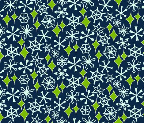 Mod Geo Xmas: Snowstorm fabric by bronhoffer on Spoonflower - custom fabric