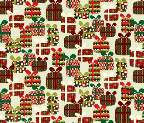 Mod Geo Xmas: Presents fabric by bronhoffer on Spoonflower - custom fabric