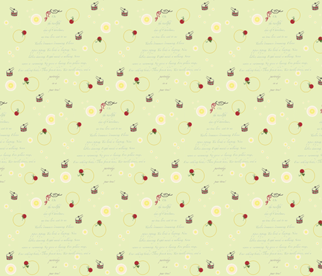 On the twelfth day fabric by ambirdie on Spoonflower - custom fabric